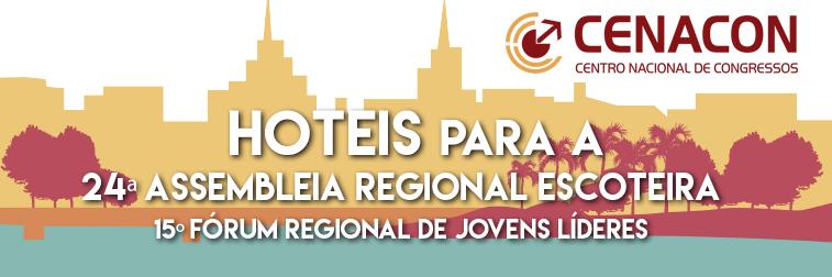 Hotéis para 24ª Assembleia Regional Escoteira
