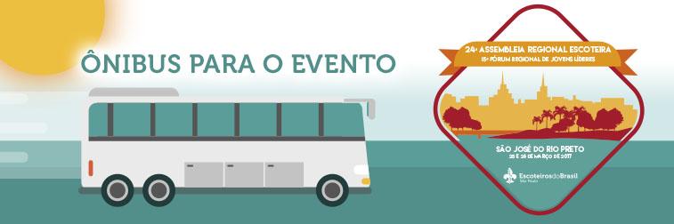 Ônibus para 24ª Assembleia Regional Escoteira e 15º Fórum Regional de Jovens Líderes