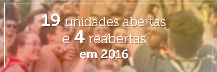 19 UELs abertas e 4 reabertas em 2016 na Região Escoteira de São Paulo
