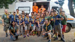 Escoteiros de Paulínia participam de oficina promovida pela Defesa Civil