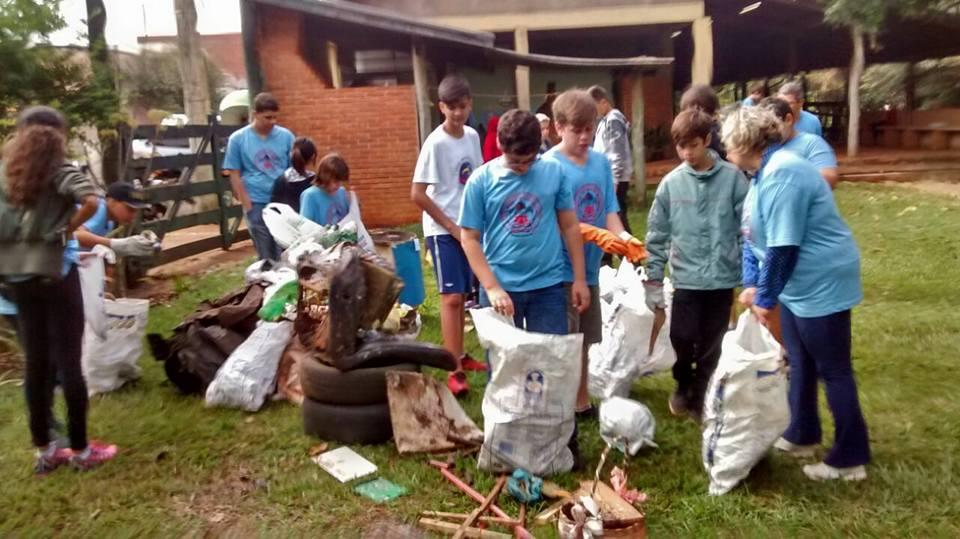 Reciclagem e apicultura foram temas do MutEco do G.E. Campos Salles