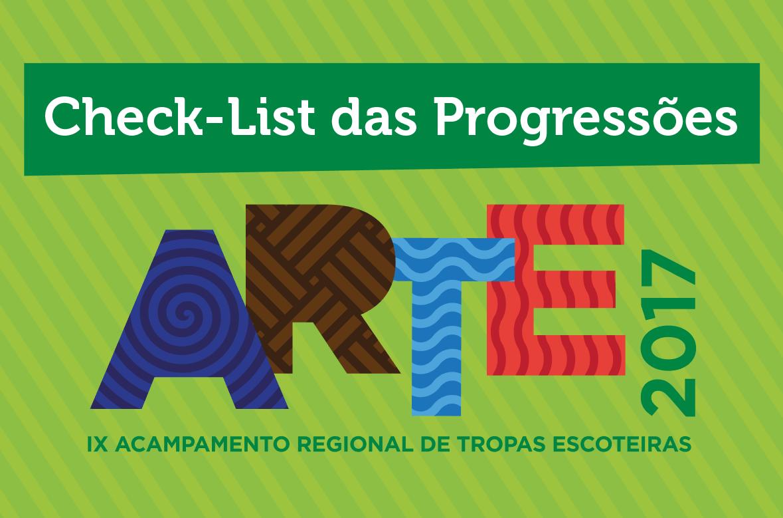 Faça o Check-List das Progressões no ARTE 2017!