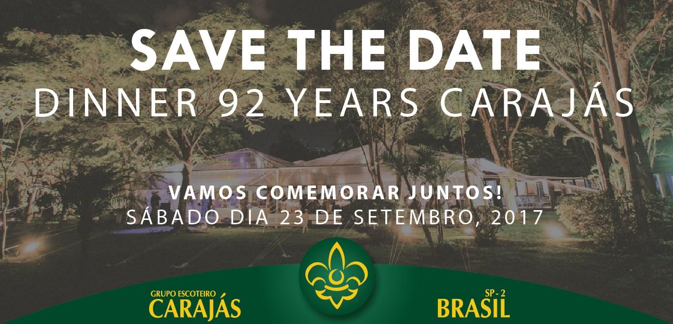 Grupo Escoteiro Carajás comemora 92 anos com jantar