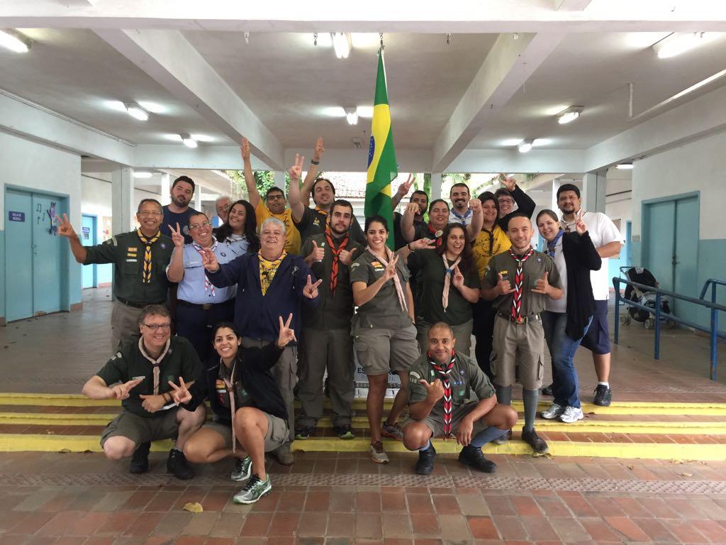Escoteiros se capacitam com muita alegria no CBDI em Santos