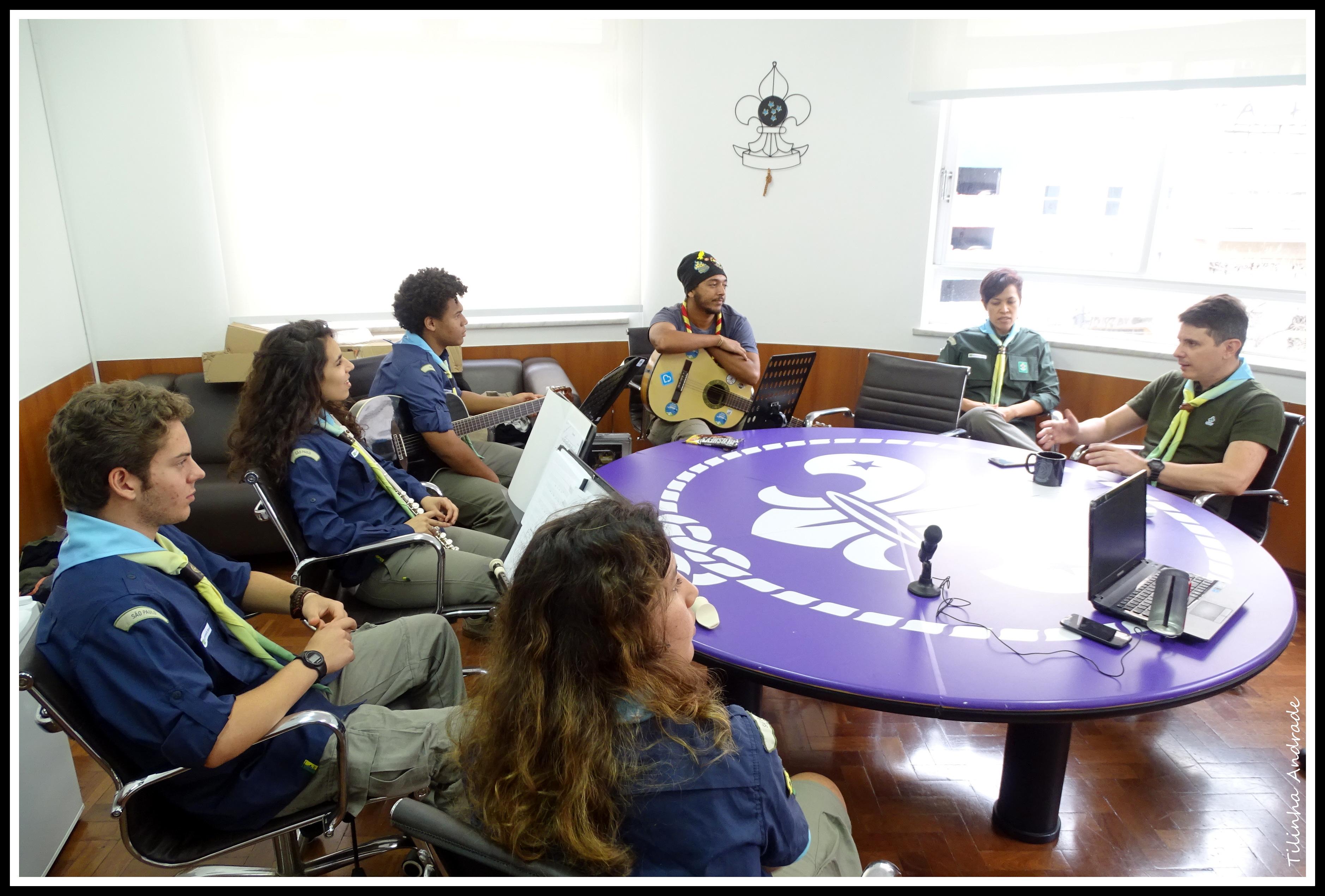 Escoteiros músicos se reúnem na Casa do Escoteiro