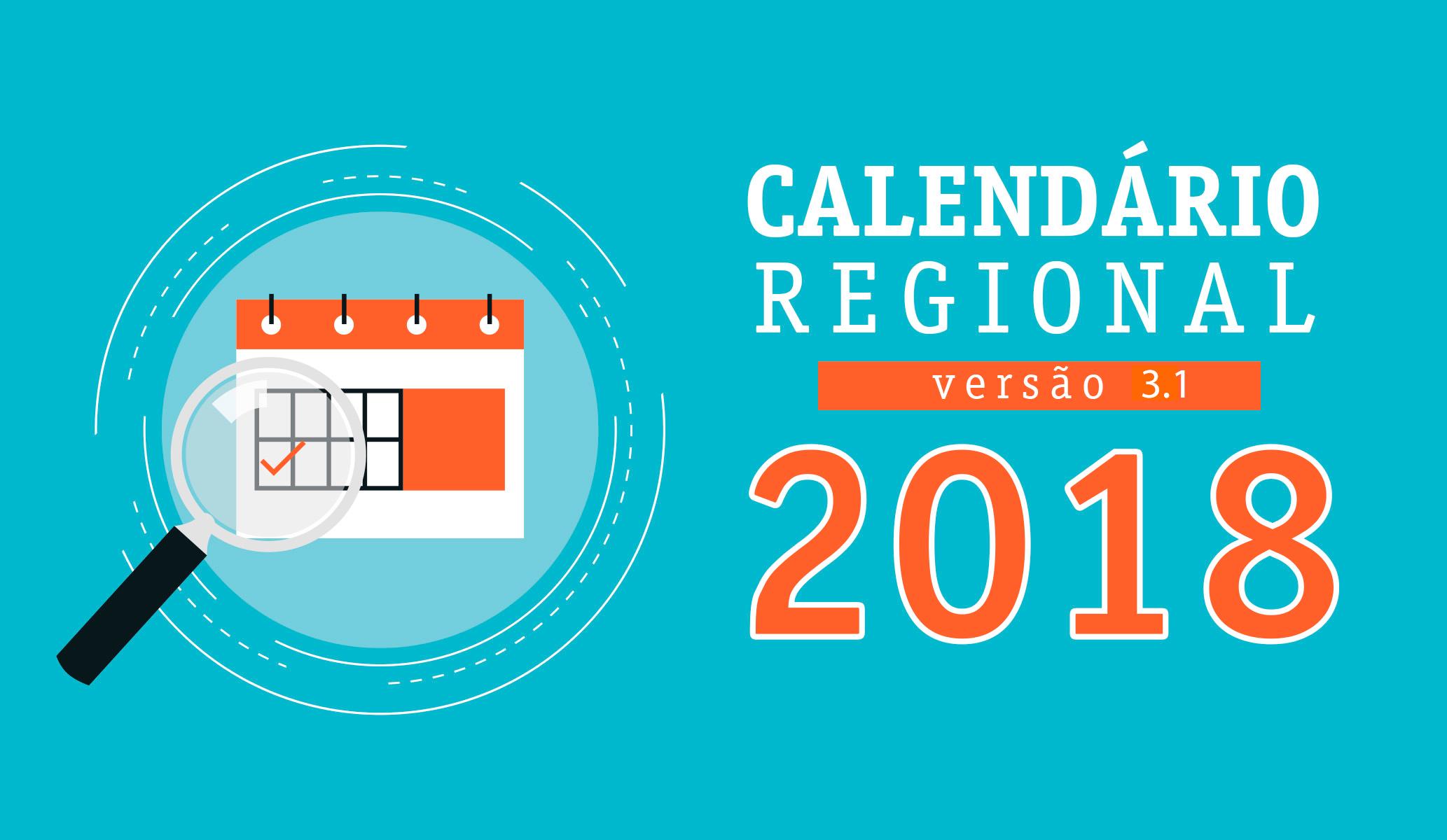 Versão 3.1 do Calendário Regional 2018