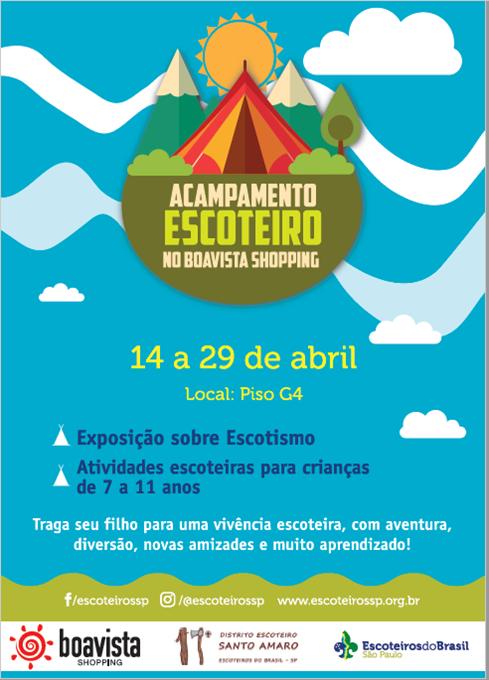 Escoteiros acampam no Boavista Shopping