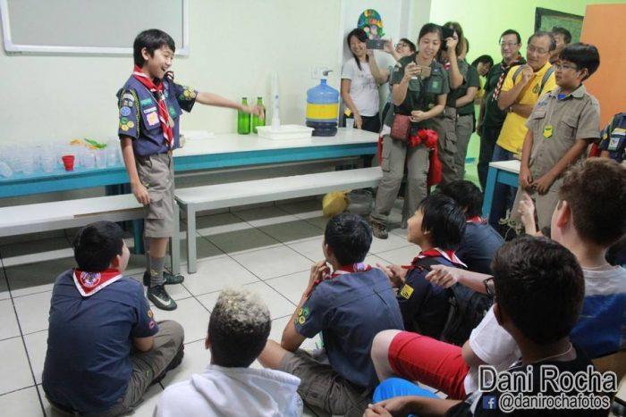 Grupo Escoteiro Nippon leva Escotismo para alunos de escola em Guarulhos