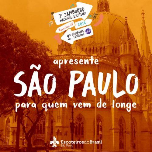 Apresente São Paulo para escoteiros que virão ao Jamboree