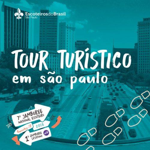Tour turístico em São Paulo para participantes do Jamboree Nacional Escoteiro