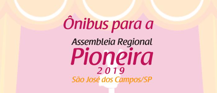 Ônibus fretado para aAssembleia Regional Pioneira (ARP) 2019