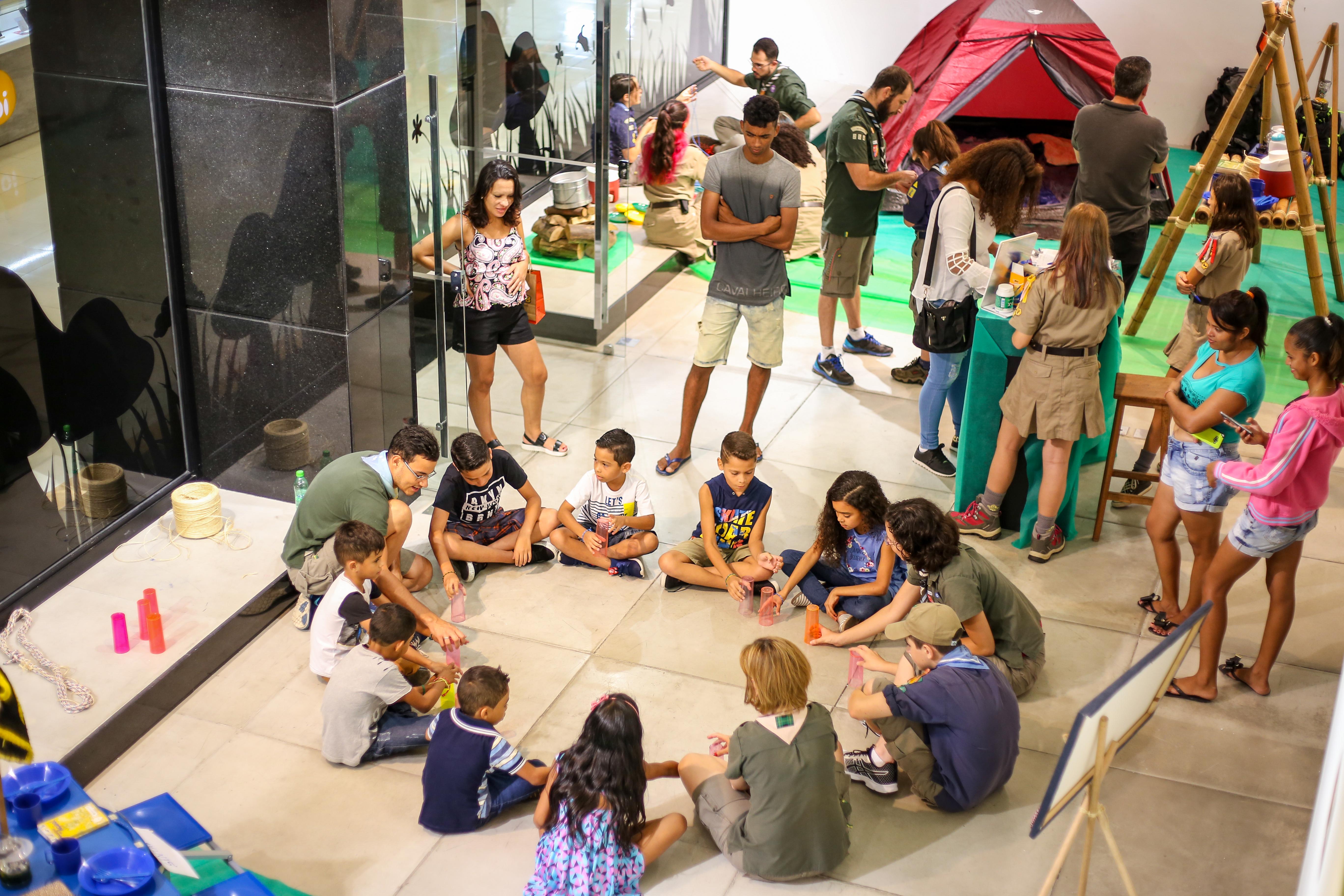 Acampamento Escoteiro no Boavista Shopping acontece pelo terceiro ano seguido