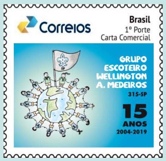 Grupo Escoteiro recebe selo comemorativo de 15 anos
