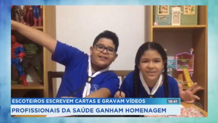 Lobinhos enviam cartas para profissionais da saúde em Santos