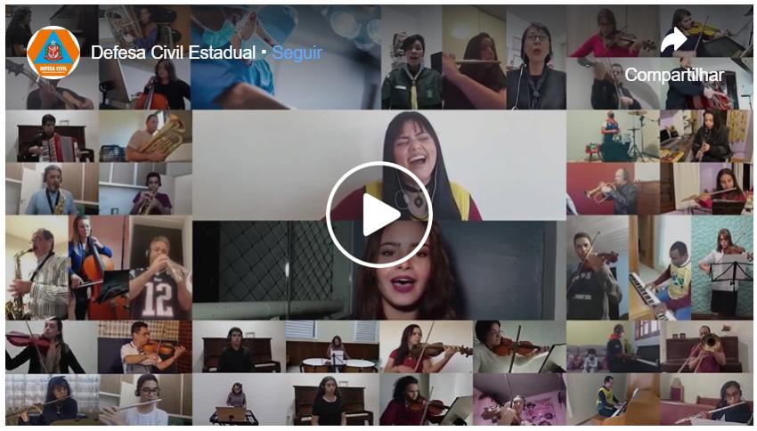 Escoteiros participam de homenagem online aos profissionais de serviços essenciais