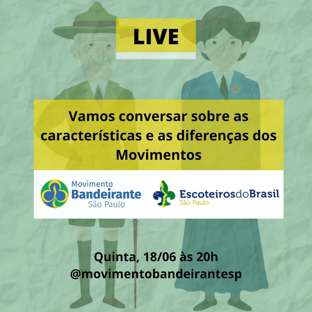 Live Movimento Bandeirante com Movimento Escoteiro