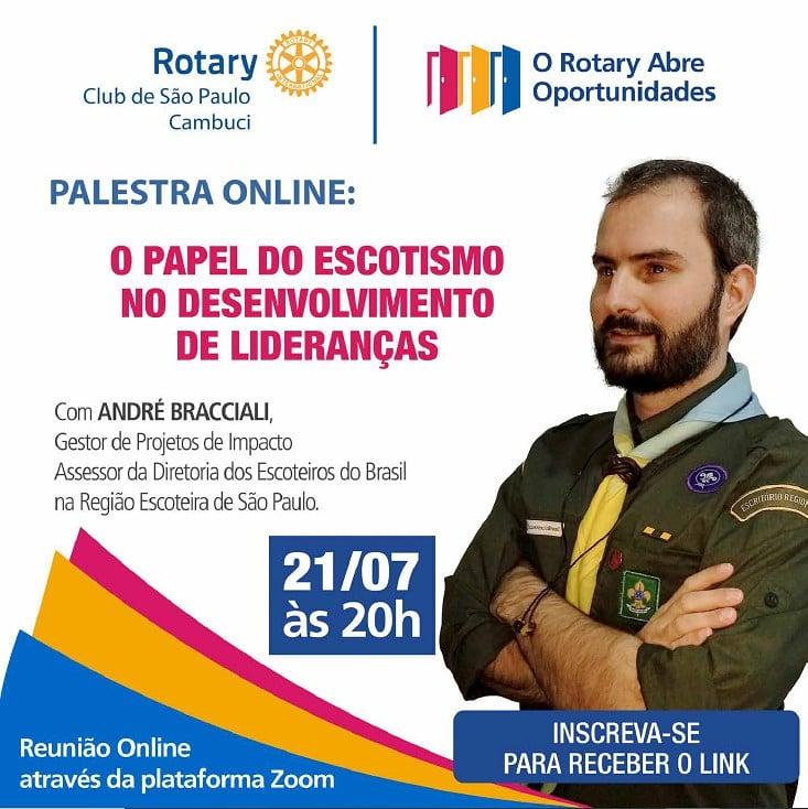 Escotismo é tema de live promovida pelo Rotary