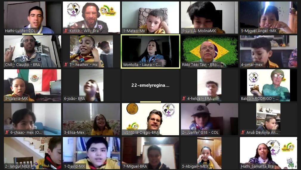Lobinhos participam de atividade interamericana online