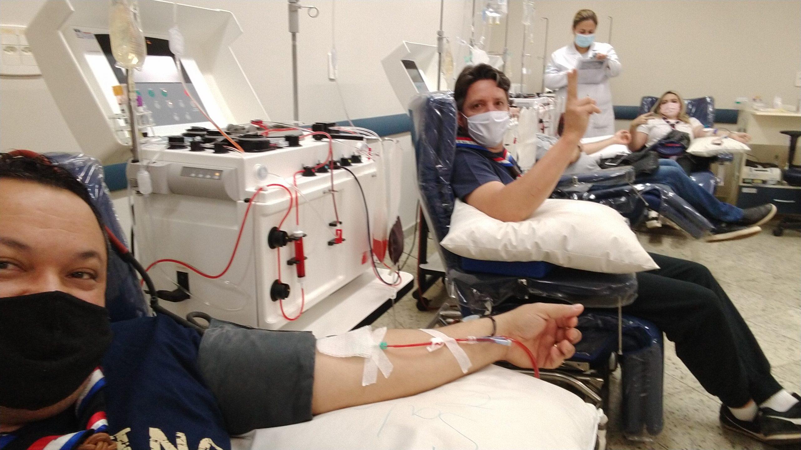 Escoteiros fazem campanha de doação de sangue em Barretos