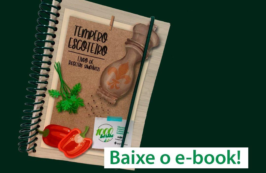 Tempero Escoteiro: livro de receitas saudáveis do 1000 hortas